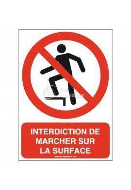 Interdiction de marcher sur la surface P019-AI