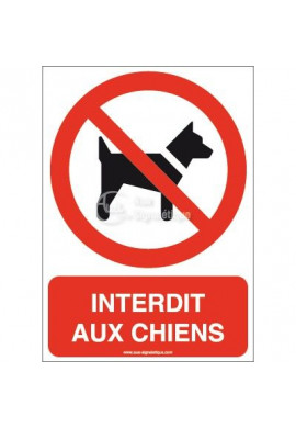 Interdit aux chiens P021-AI Aluminium 3mm 150x210 mm