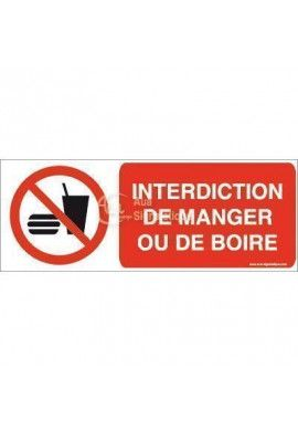 Interdiction de manger ou de boire P022-B