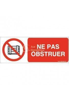 Ne pas obstruer P023-B