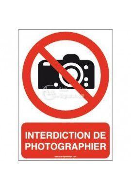 Interdiction de photographier P029-AI Aluminium 3mm 150x210 mm