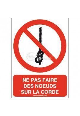 Ne pas faire des noeuds sur la corde P030-AI Aluminium 3mm 150x210 mm