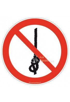 Ne pas faire des noeuds sur la corde P030