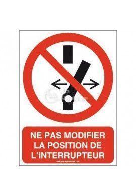 Ne pas modifier la position de l'interrupteur P031-AI Aluminium 3mm 150x210 mm