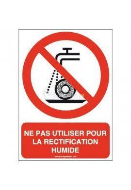 Ne pas utiliser pour la rectification humide P033-AI Aluminium 3mm 150x210 mm