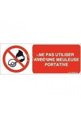 Ne pas utiliser avec une meuleuse portative P034-B