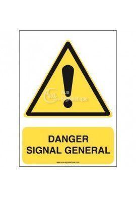 Danger, signal général W001-AI Aluminium 3mm 150x210 mm