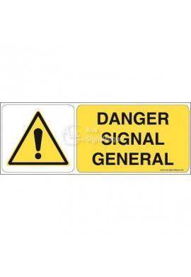 Danger, signal général W001-B Aluminium 3mm 160x60 mm
