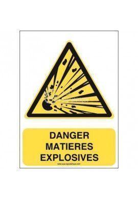 Danger; Matières explosives W002-AI Aluminium 3mm 150x210 mm