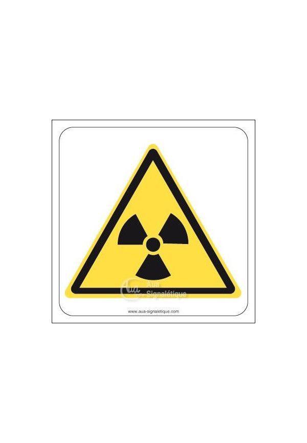 Danger, Matières radioactives ou radiations ionisantes W003 Aluminium 3mm 130x130 mm