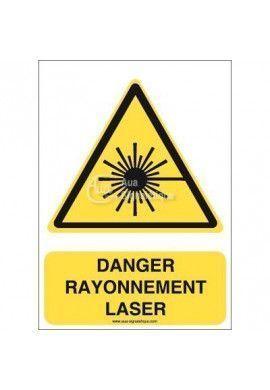 Danger, Rayonnement laser W004-AI Aluminium 3mm 150x210 mm
