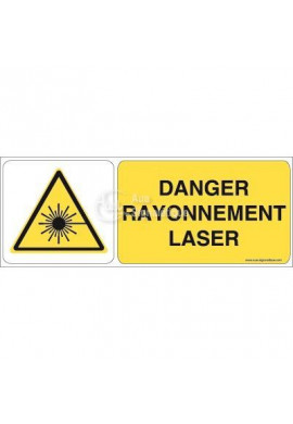 Danger, Rayonnement laser W004-B Aluminium 3mm 160x60 mm