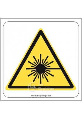 Danger, Rayonnement laser W004 Aluminium 3mm 130x130 mm