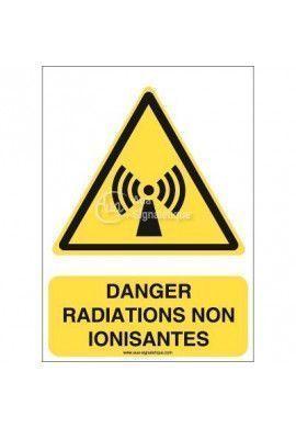 Danger, Radiations non ionisantes W005-AI Aluminium 3mm 150x210 mm