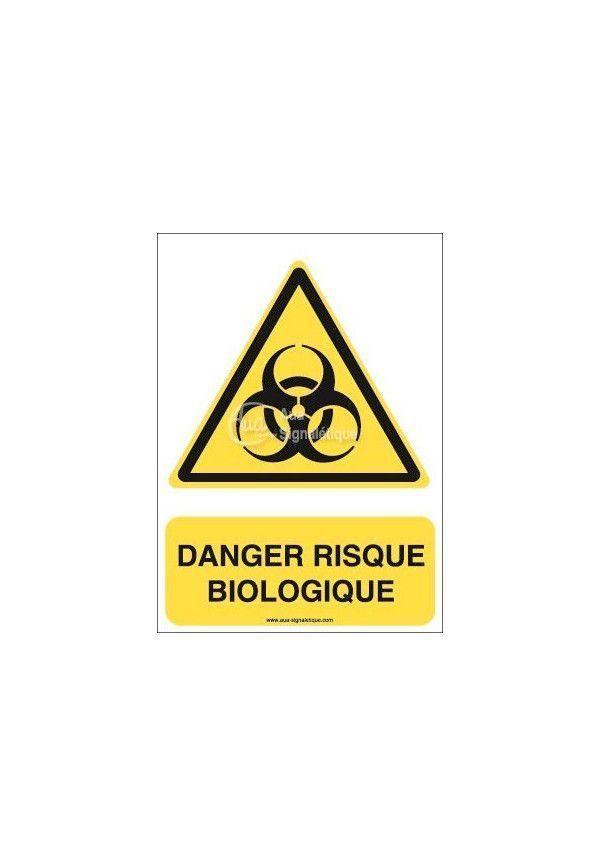 Danger, Risque biologique W009-AI Aluminium 3mm 150x210 mm