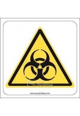 Danger, Risque biologique W009 Aluminium 3mm 130x130 mm