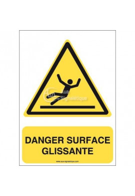 Danger, Surface glissante W011-AI Aluminium 3mm 150x210 mm