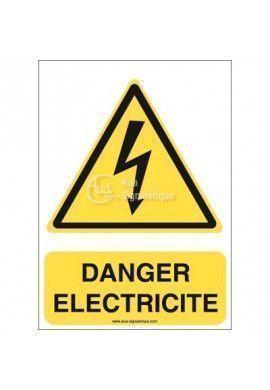 Danger, Electricité W012-AI Aluminium 3mm 150x210 mm