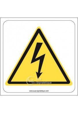 Danger, Electricité W012 Aluminium 3mm 130x130 mm