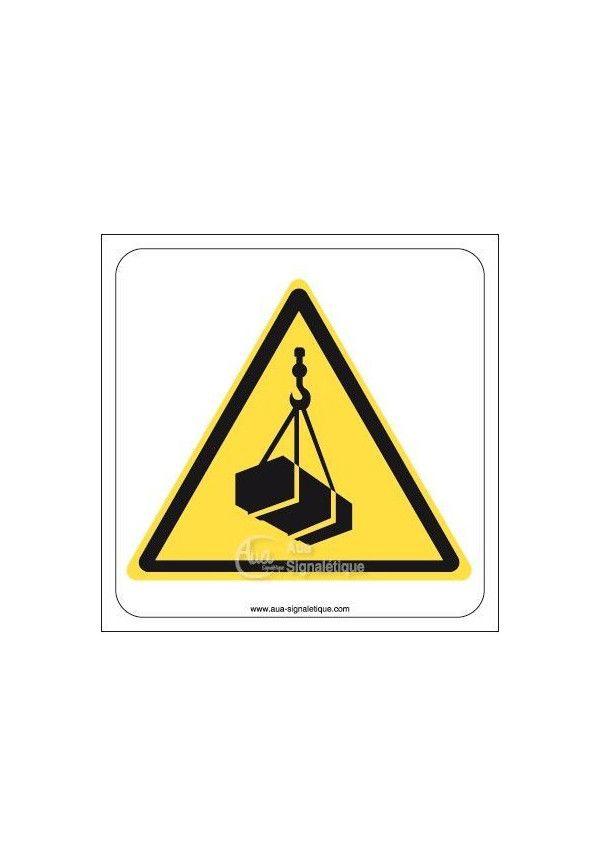 Danger, Charges suspendues W015 Aluminium 3mm 130x130 mm