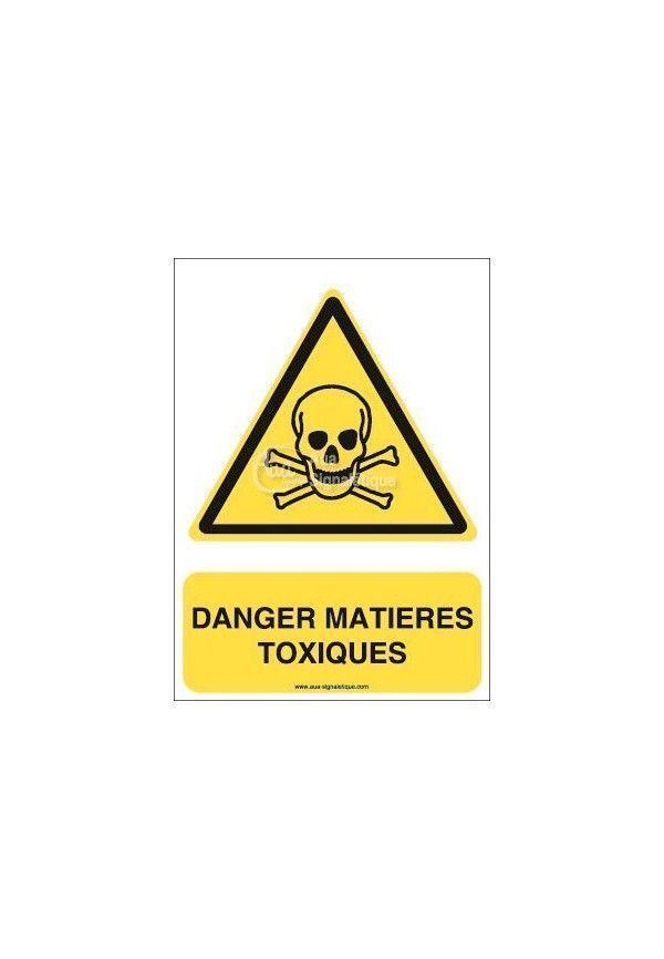 Danger, Matières toxiques W016-Triangulaire Aluminium 3mm 150x210 mm
