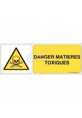 Danger, Matières toxiques W016-B Aluminium 3mm 160x60 mm