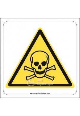 Danger, Matières toxiques W016 Aluminium 3mm 130x130 mm
