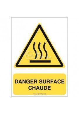 Danger, Surface chaude W017-AI Aluminium 3mm 150x210 mm