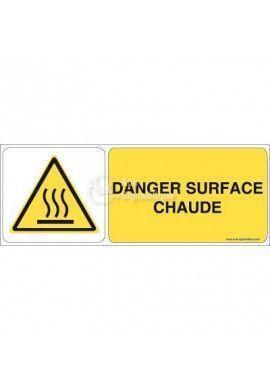 Danger, Surface chaude W017-B Aluminium 3mm 160x60 mm
