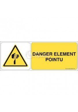 Danger, Elément pointu W022-B Aluminium 3mm 160x60 mm