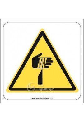 Danger, Elément pointu W022 Aluminium 3mm 130x130 mm