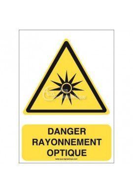 Danger, Rayonnement optique W027-AI Aluminium 3mm 150x210 mm