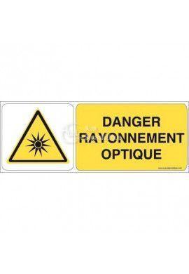 Danger, Rayonnement optique W027-B Aluminium 3mm 160x60 mm