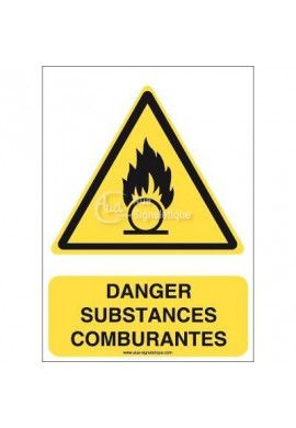 Danger, Substances comburantes W028-AI Aluminium 3mm 150x210 mm