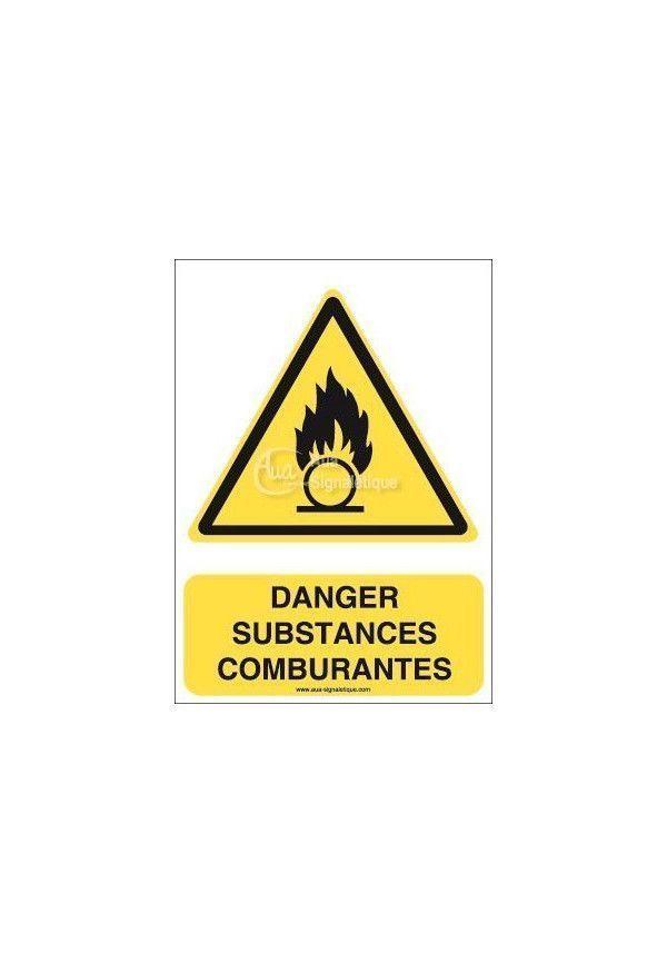 Danger, Substances comburantes W028-AI Aluminium 3mm 150x210 mm