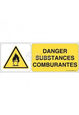 Danger, Substances comburantes W028-B Aluminium 3mm 160x60 mm