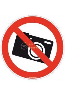 Panneau Photo interdite