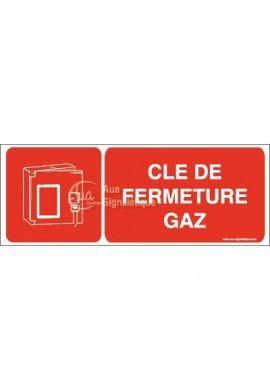 Panneau clé de fermeture gaz