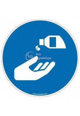 Panneau Obligation de se Désinfecter les Mains