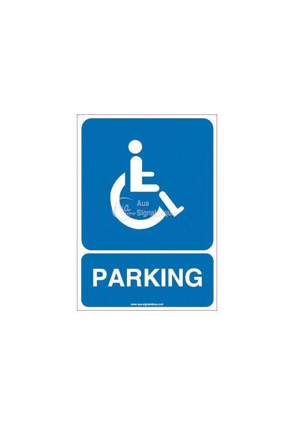 Panneau Parking Handicapés 02
