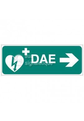 Signalisation défibrillateur DAE-Modèle 2 - Droite