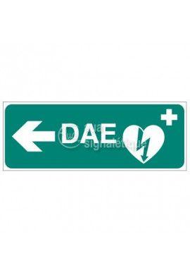 Signalisation défibrillateur DAE-Modèle 2 - Gauche