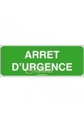 Panneau Arrêt d'urgence - B