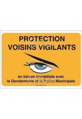 Panneau protection voisins vigilants