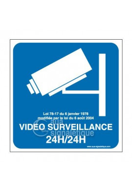 Panneau Vidéo Surveillance 24h/24