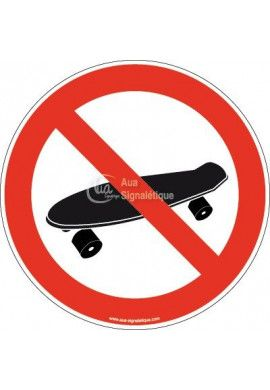 Panneau Interdiction au Skateboard