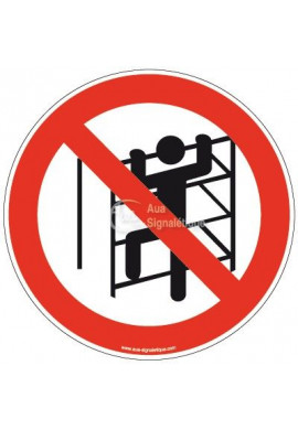 Panneau Escalade interdite