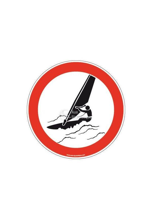 Panneau Planche à voile interdite