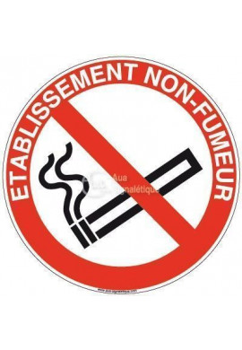 Panneau Etablissement non fumeur-R