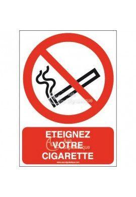 Panneau Éteignez votre cigarette-AI